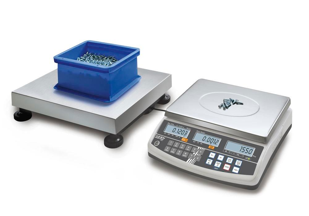 KERN counting scale CCS, up to 6 kg, min. part weight 0.05 g/unit, weighing plate 230 x 230 mm - 1