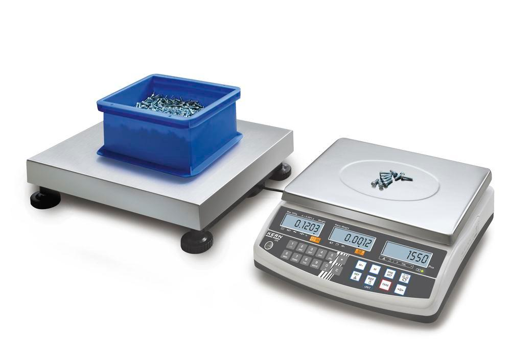KERN counting scale CCS, up to 60 kg, min. part weight 1.0 g/unit, weighing plate 400 x 300 mm - 1