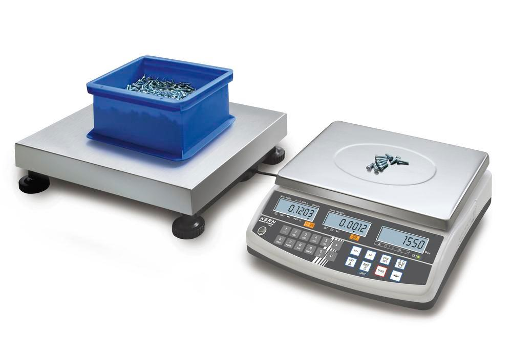 KERN counting scale CCS, up to 60 kg, min. part weight 1.0 g/unit, weighing plate 500 x 400 mm