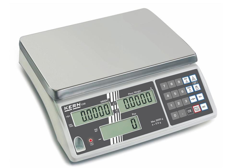 KERN counting scale CXB, up to 30 kg, min. part weight 10.0 g/unit - 1
