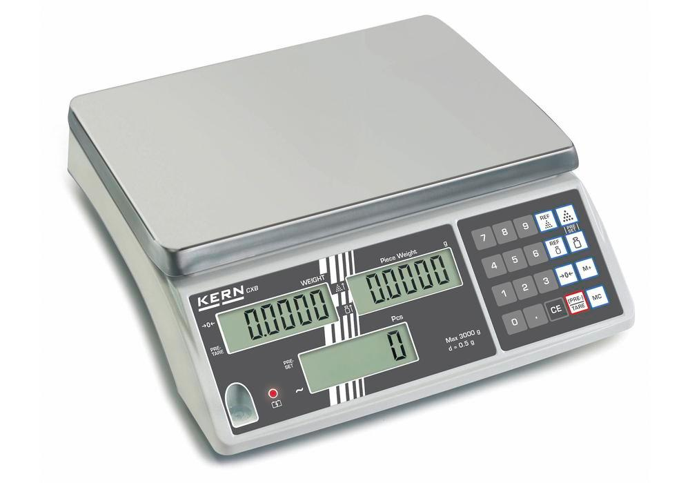 KERN counting scale CXB, verifiable, up to 15 kg, min. part weight 5.0 g/unit
