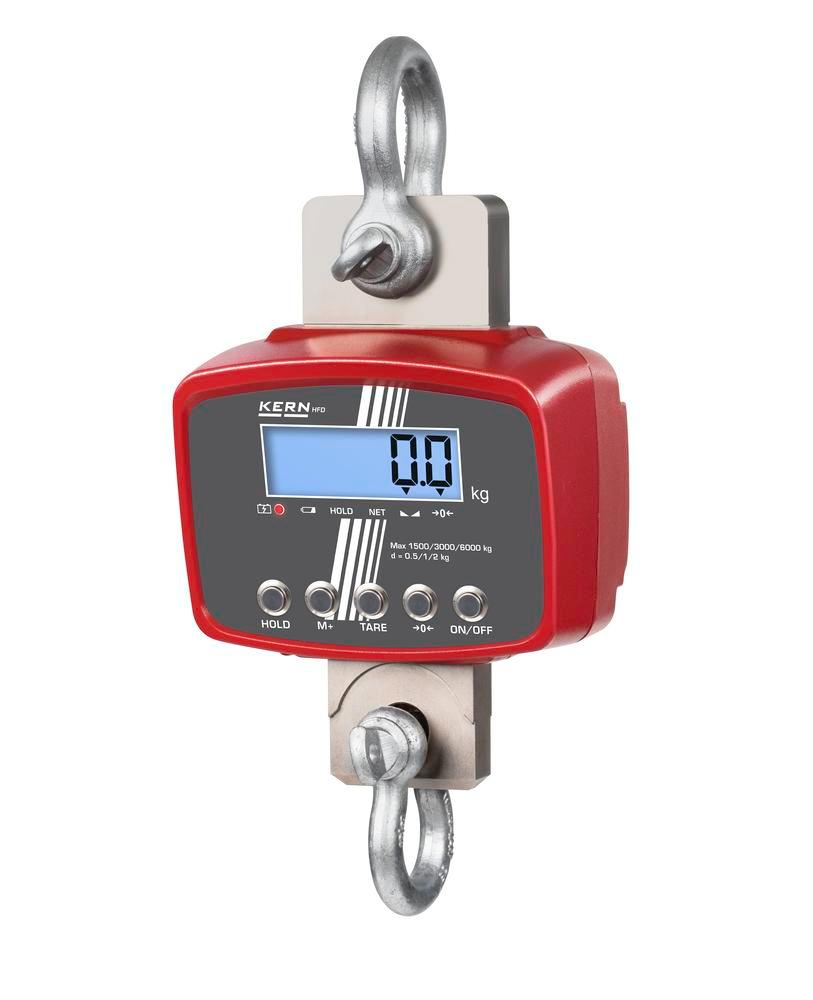 KERN premium three-range crane scale HFD, up to 6 t