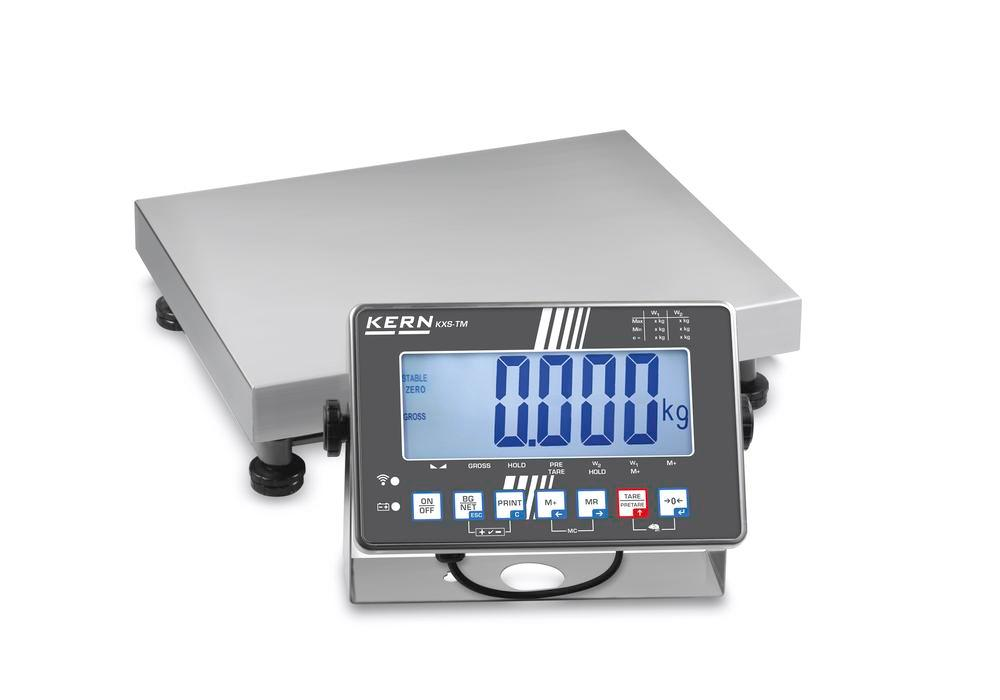 KERN st steel platform scale SXS, IP 68, verifiable, to 150 kg, weighing plate 650 x 500 mm