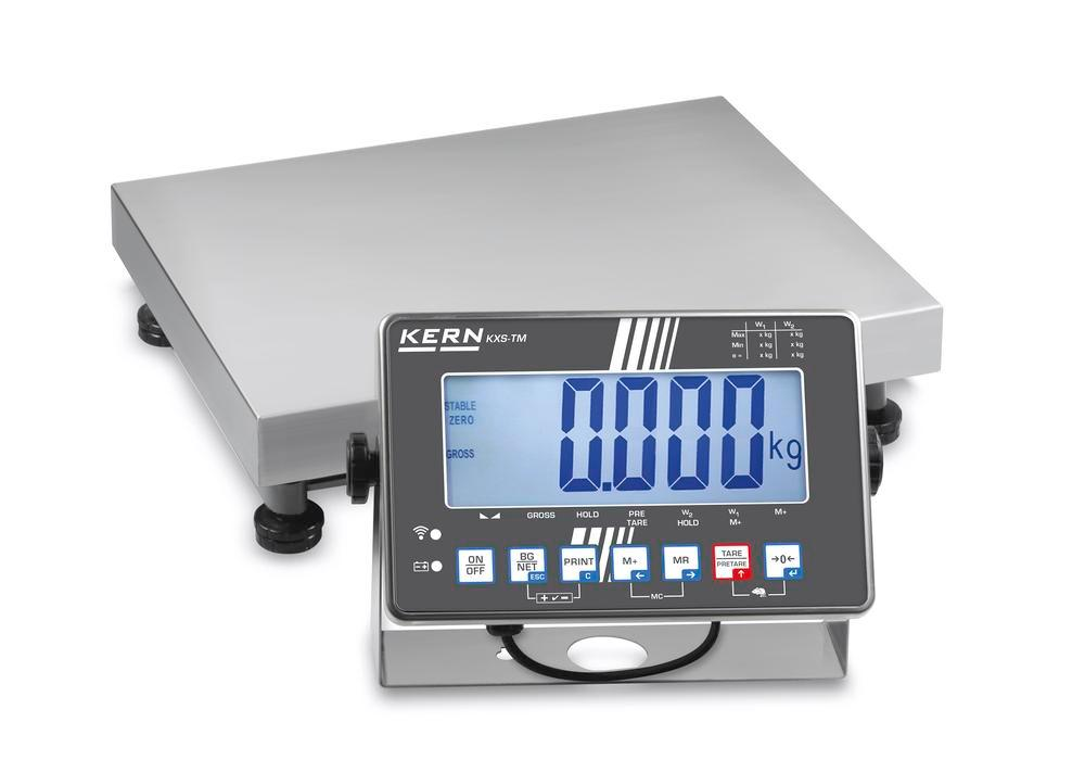 KERN st steel platform scale SXS, IP 68, verifiable, to 300 kg, weighing plate 650 x 500 mm