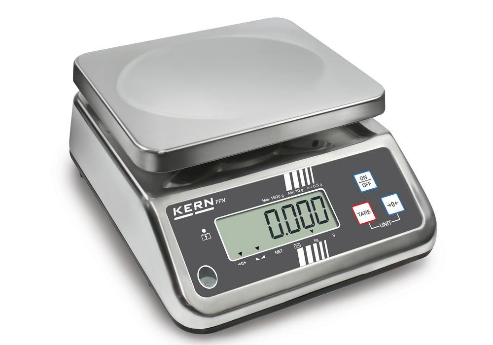 KERN stainless steel bench scale FFN, IP 65, up to 15 kg - 1