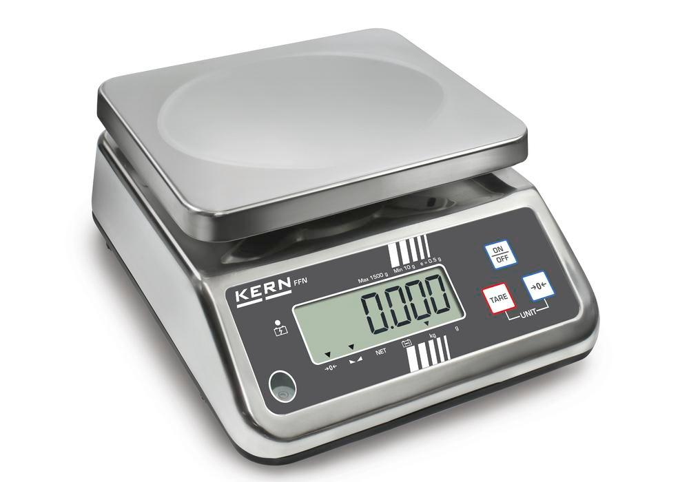 KERN stainless steel bench scale FFN, IP 65, verifiable, up to 15 kg