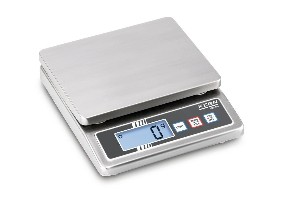 KERN stainless steel bench scale FOB, IP 65, up to 5 kg