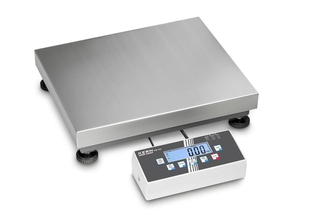 KERN two-range platform scale IOC, IP 65, verifiable, to 600 kg, weighing plate 800 x 600 mm