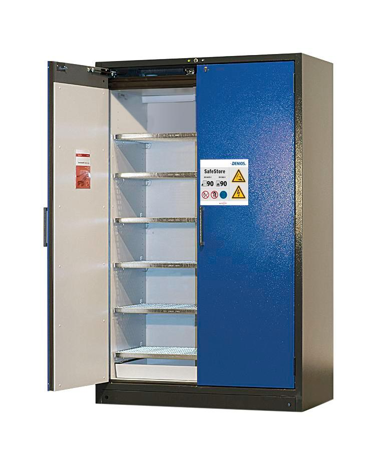Lithium battery storage cabinet SafeStore, fire resistant inside and outside, 6 grids, Model 126