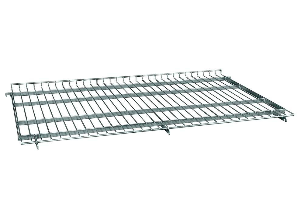 Mesh intermediate shelf for steel roll box pallets 800 x 1200 mm, with edge, slanted attachment - 1