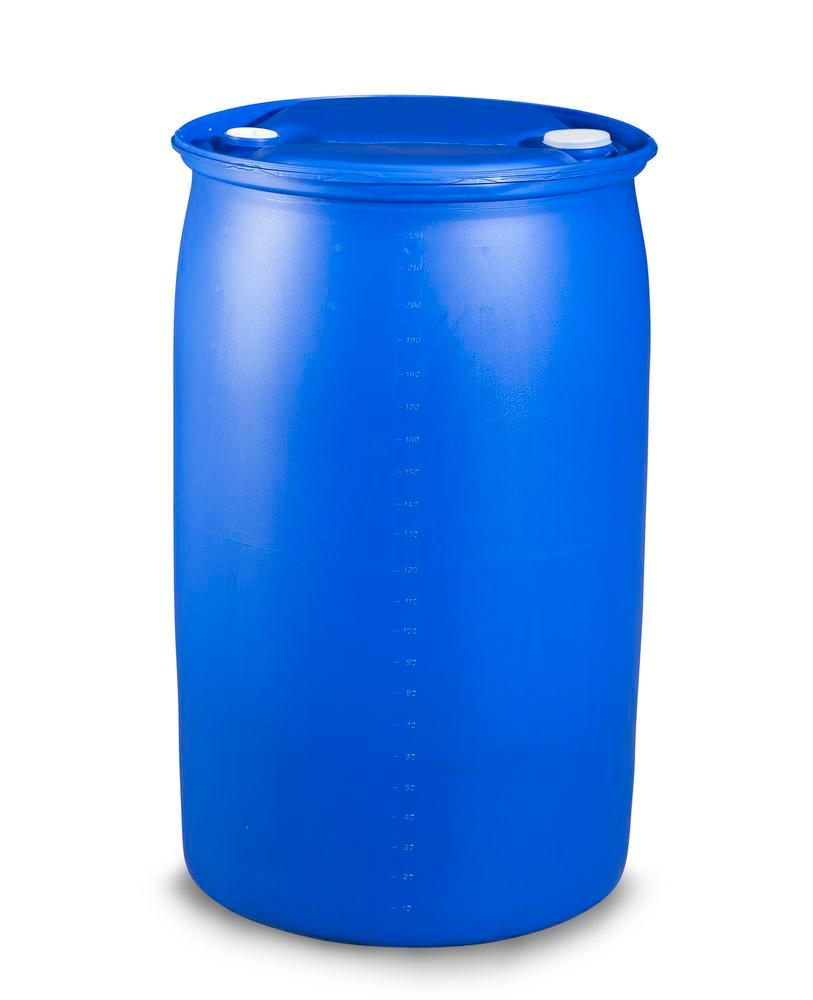Plastic bung drum, 120 litre, bung thread 3/4'' and 2'' - 3