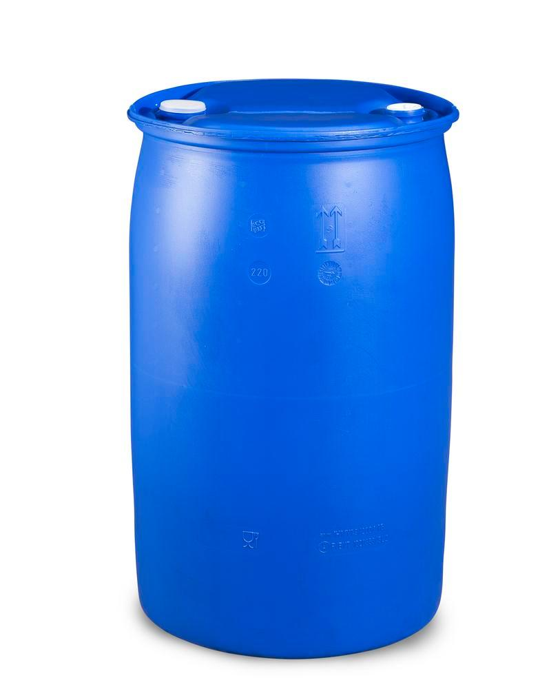 Plastic bung drum, 120 litre, bung thread 3/4'' and 2''
