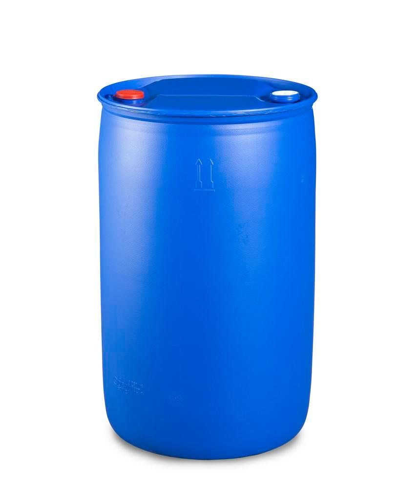 Plastic bung drum, 220 litre, bung thread 3/4'' and 2''
