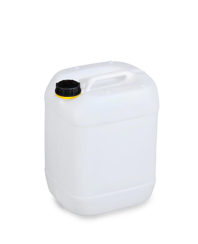 Plastic canister in polyethylene (PE), 20 litre, transparent natural