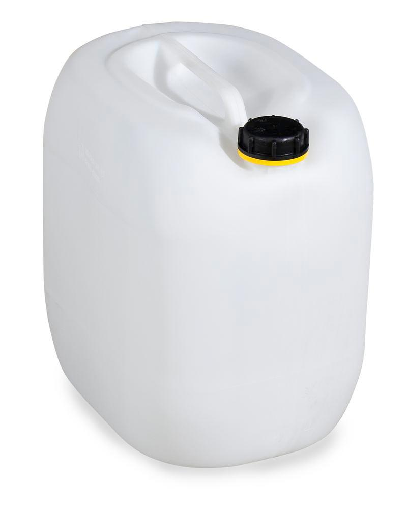 Plastic canister in polyethylene (PE), 30 litre, transparent natural