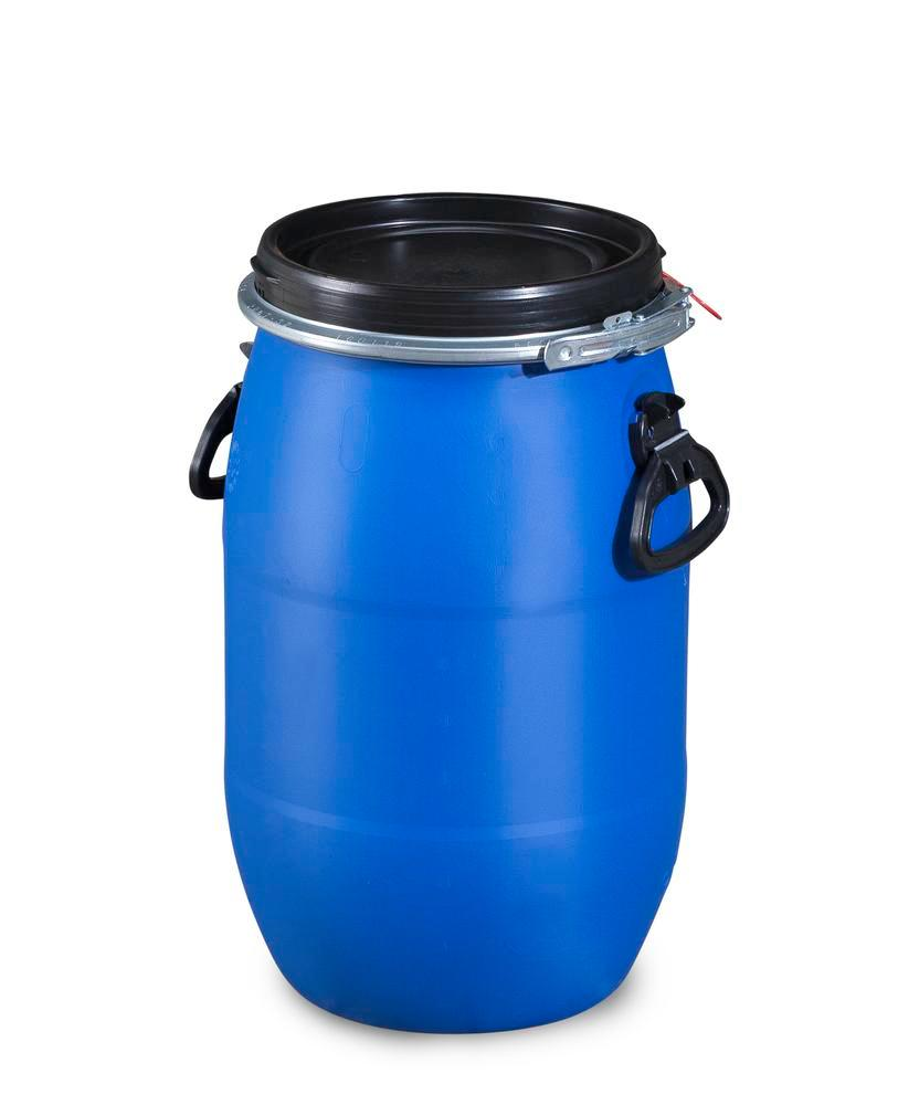 Plastic lidded drum, 30 litre