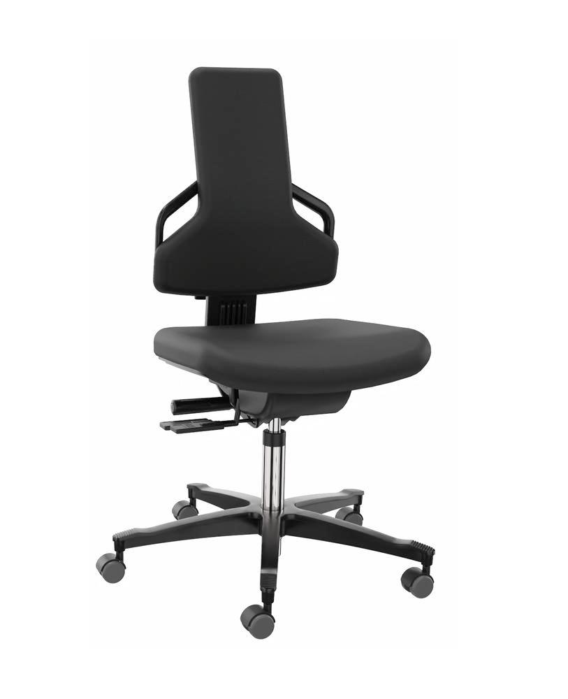 Premium work chair cover fabric black