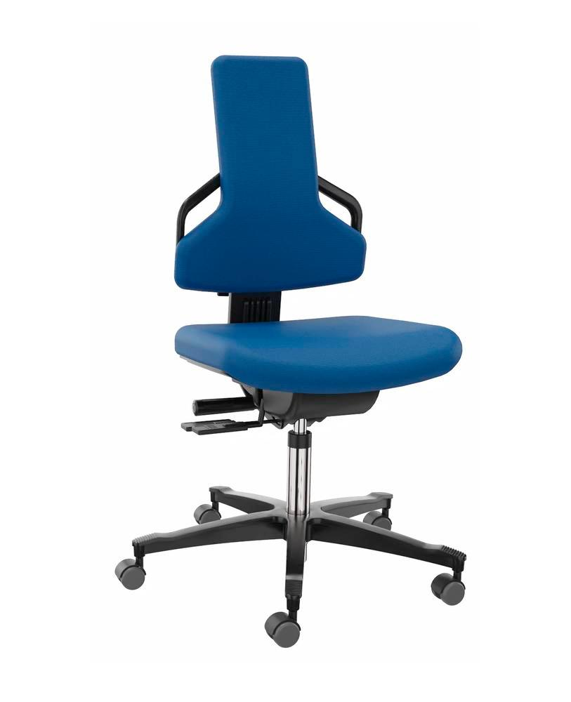 Premium work chair cover fabric blue