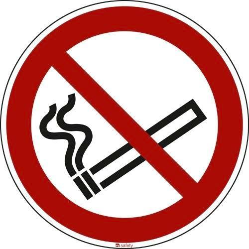 "Prohibition sign ""No smoking"", ISO 7010 / ASR 1.3, foil D=200"