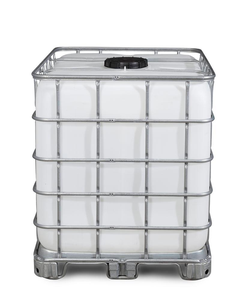 Recobulk IBC container, steel runner, 1000 litre, NW225 opening, NW80 drain