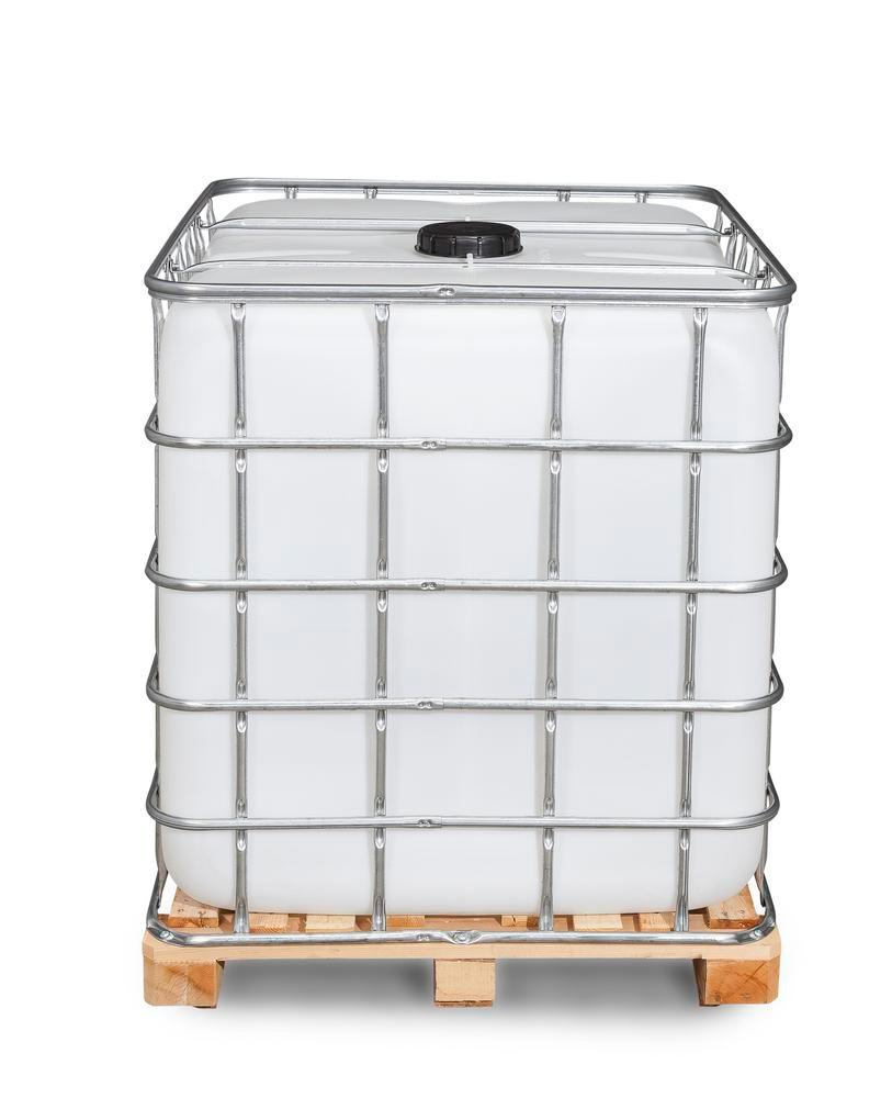 Recobulk IBC container, wooden pallet, 1000 litre, NW150 opening, NW50 drain