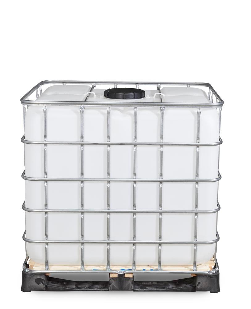 Recobulk IBC container, wooden pallet, 1000 litre, NW225 opening, NW50 drain