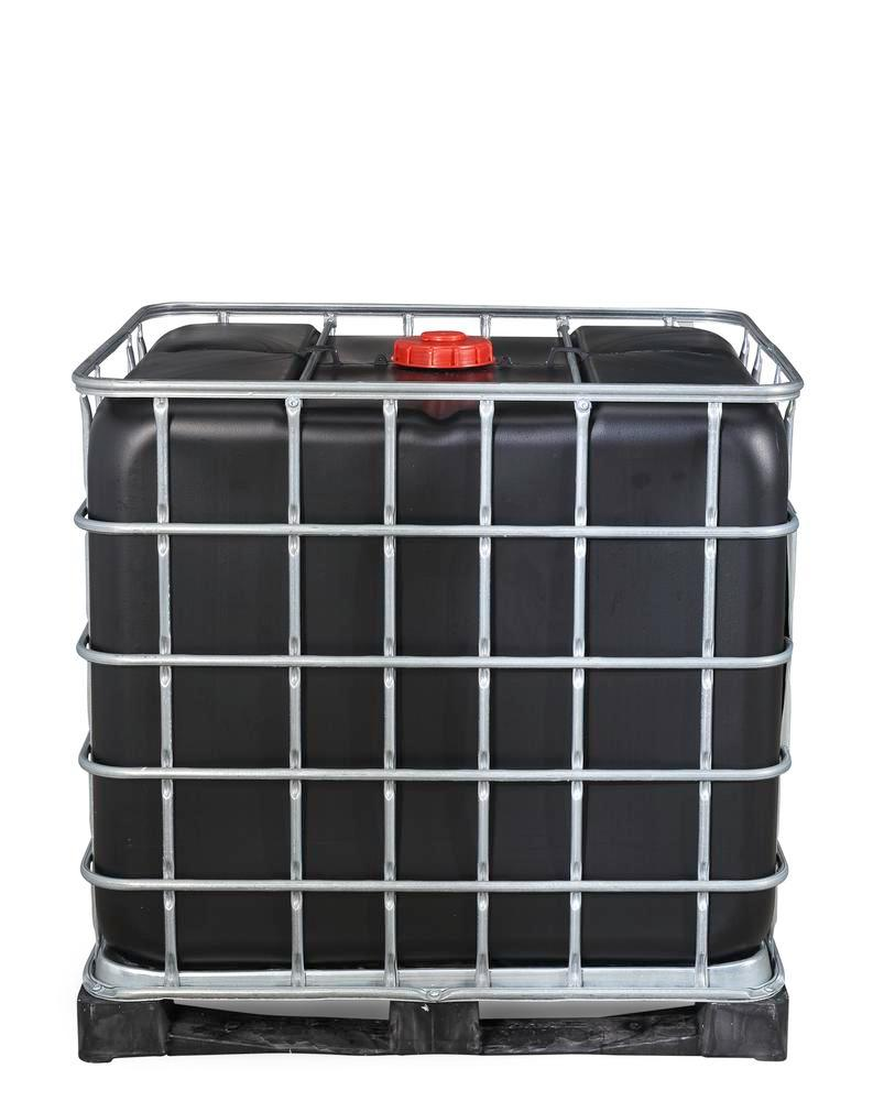 Recobulk IBC hazard. goods container, UV protect, PE pallet, 1000 litre, NW150 opening, NW80 drain
