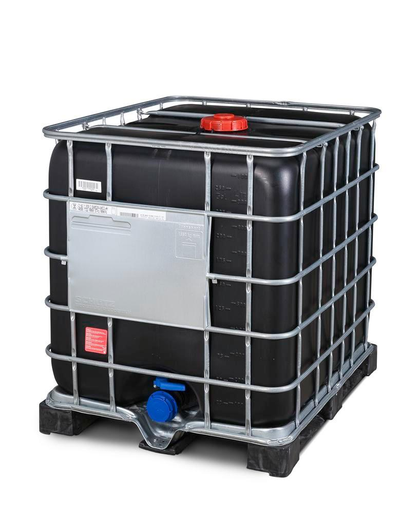 Recobulk IBC hazard. goods container, UV protect, PE pallet, 1000 litre, NW150 opening, NW80 drain - 5