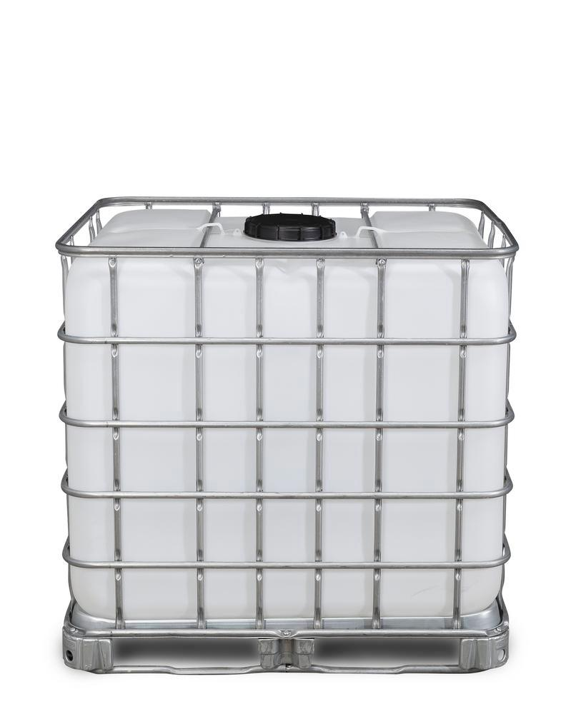 Recobulk IBC hazardous goods container, steel frame pallet, 1000 litre, NW225 opening, NW50 drain