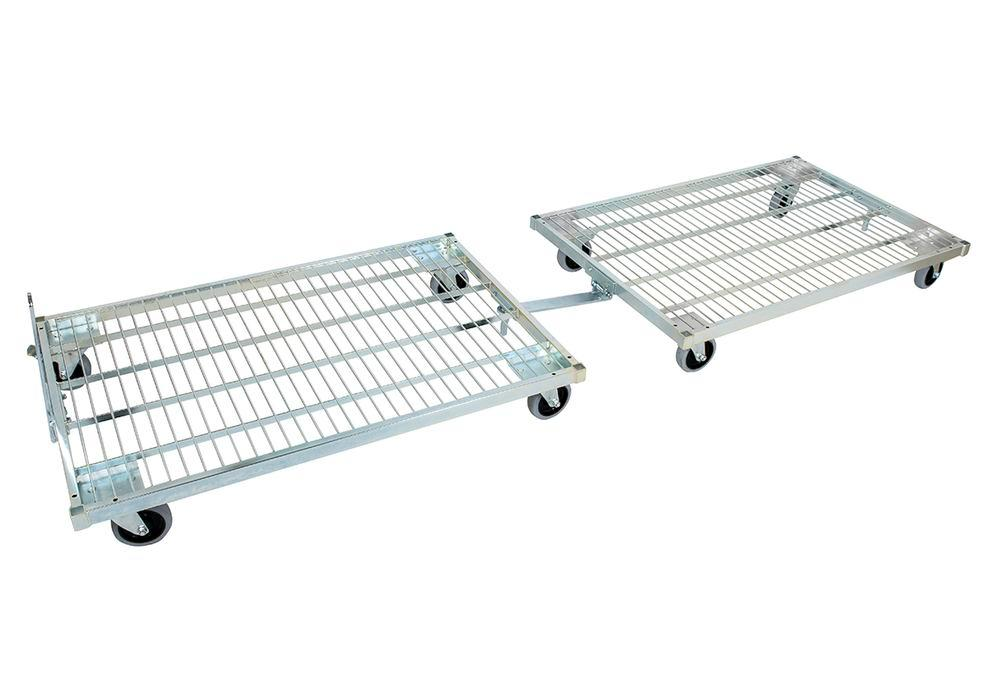 Set with handle and coupling for roll pallet 800 x 1200 / 950 x 1350 mm
