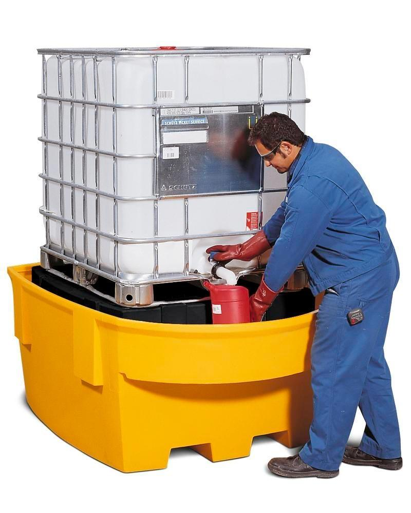 Spill pallet base-line in polyethylene (PE) for 1 IBC, with PE storage mount and dispensing area - 2
