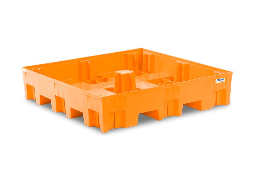 Spill pallet base-line in polyethylene (PE) for 4 drums, without grid