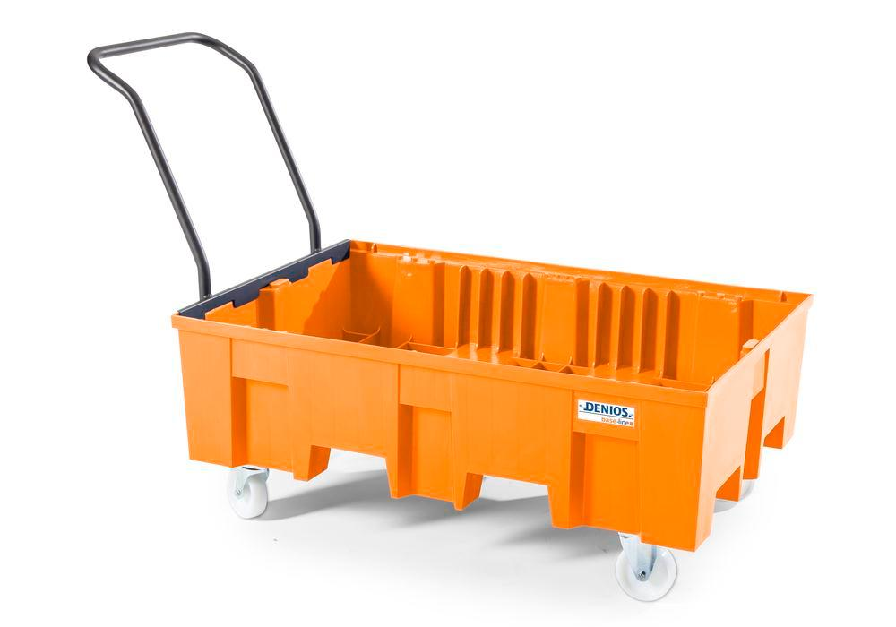 Spill pallet base-line in polyethylene (PE), without grid, mobile - 1
