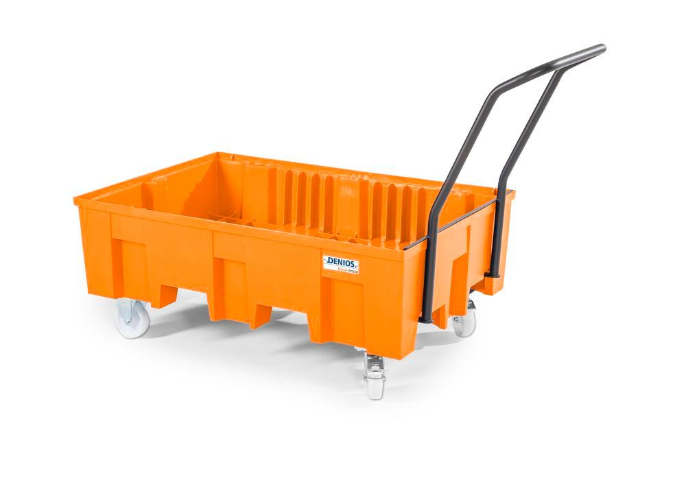 Spill pallet base-line in polyethylene (PE), without grid, mobile - 3