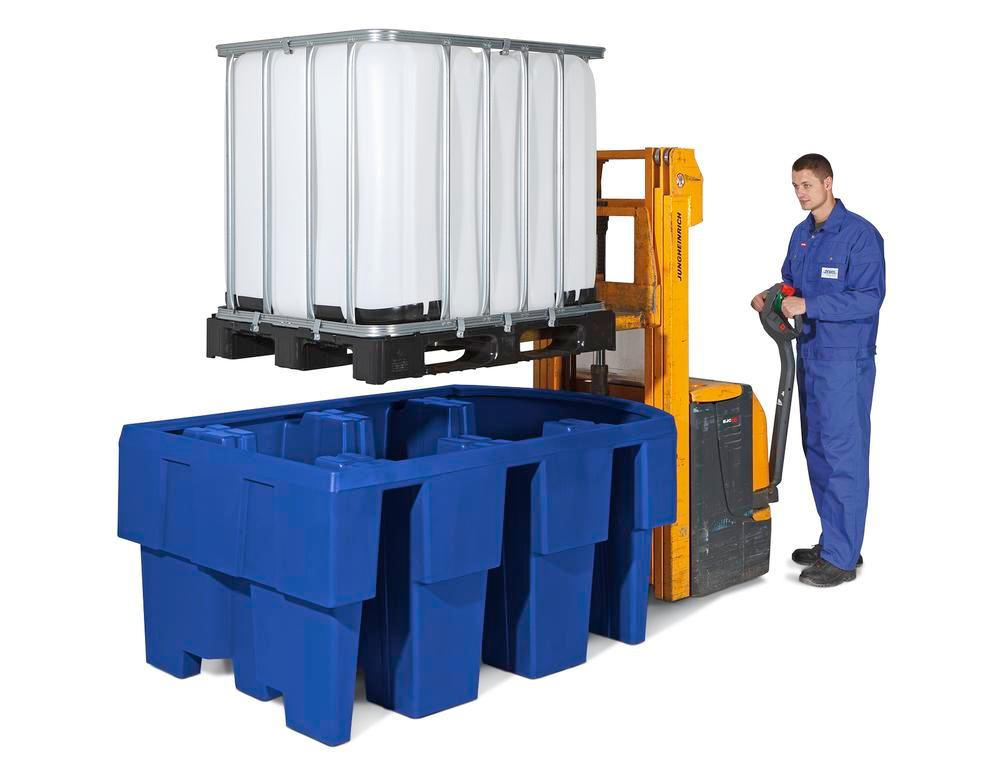Spill pallet classic-line in polyethylene (PE) for 1 IBC, with dispensing area - 3