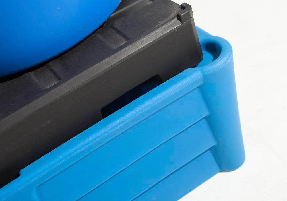 Spill pallet classic-line in polyethylene (PE) for 2 drums, with PE pallet, 1330x930x500 - 3