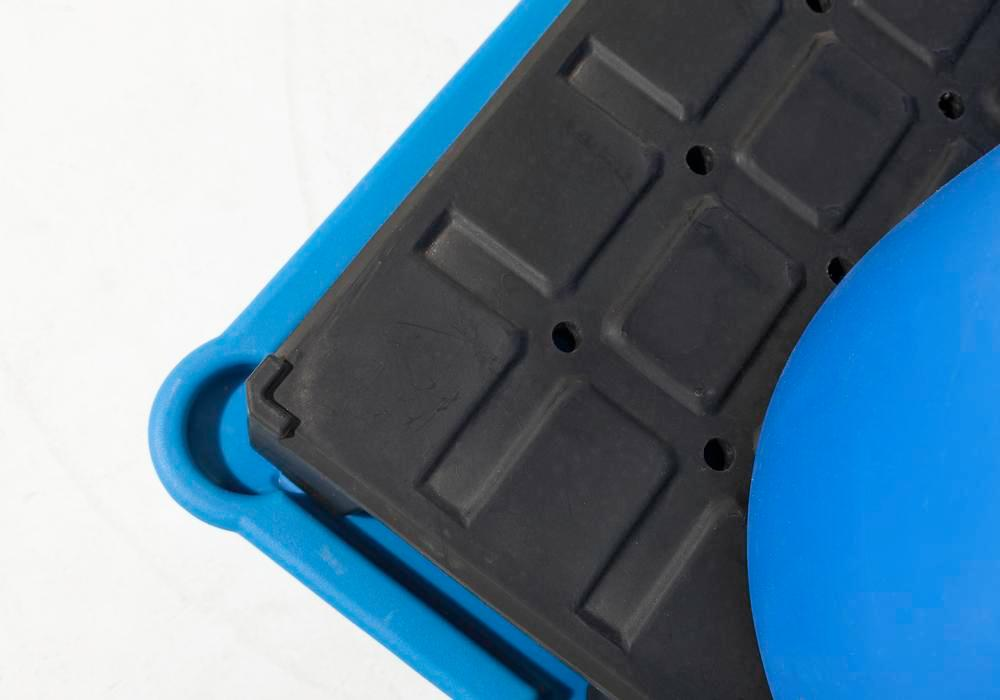 Spill pallet classic-line in polyethylene (PE) for 2 drums, with PE pallet, 1330x930x500 - 5
