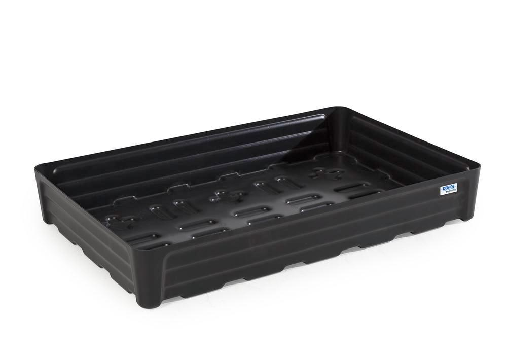 Spill tray for small containers pro-line in polyethylene (PE) without grid, 120 litre, 1168x784x180