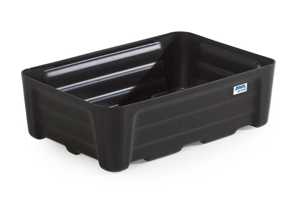 Spill tray for small containers pro-line in polyethylene (PE) without grid, 30 litre, 592x400x180