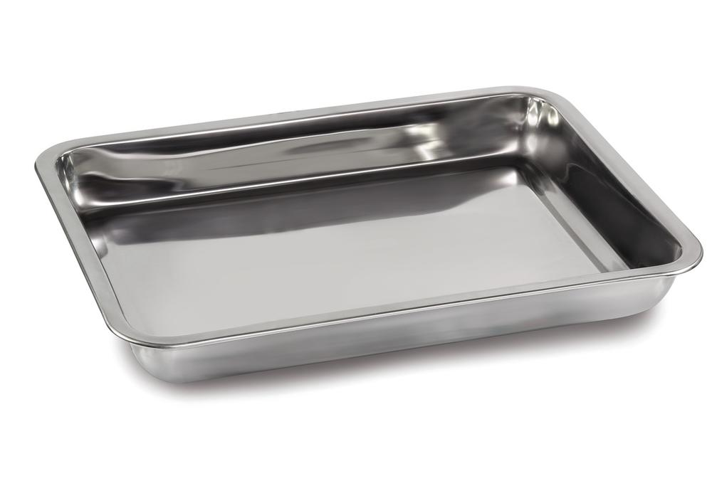 Tare pan in stainless steel, dimensions 370 x 240 x 20 mm - 1