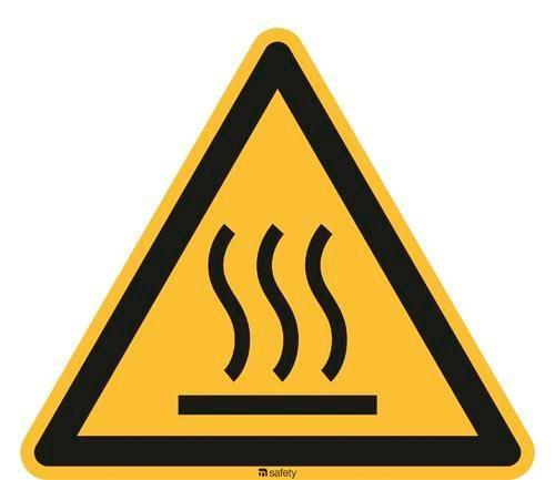 Warning sign Warning of hot surfaces, ISO 7010, foil 200 mm