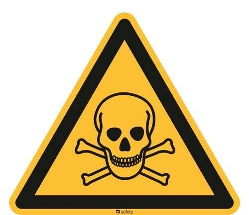 Warning sign Warning of toxic substances, ISO 7010, foil 200 mm