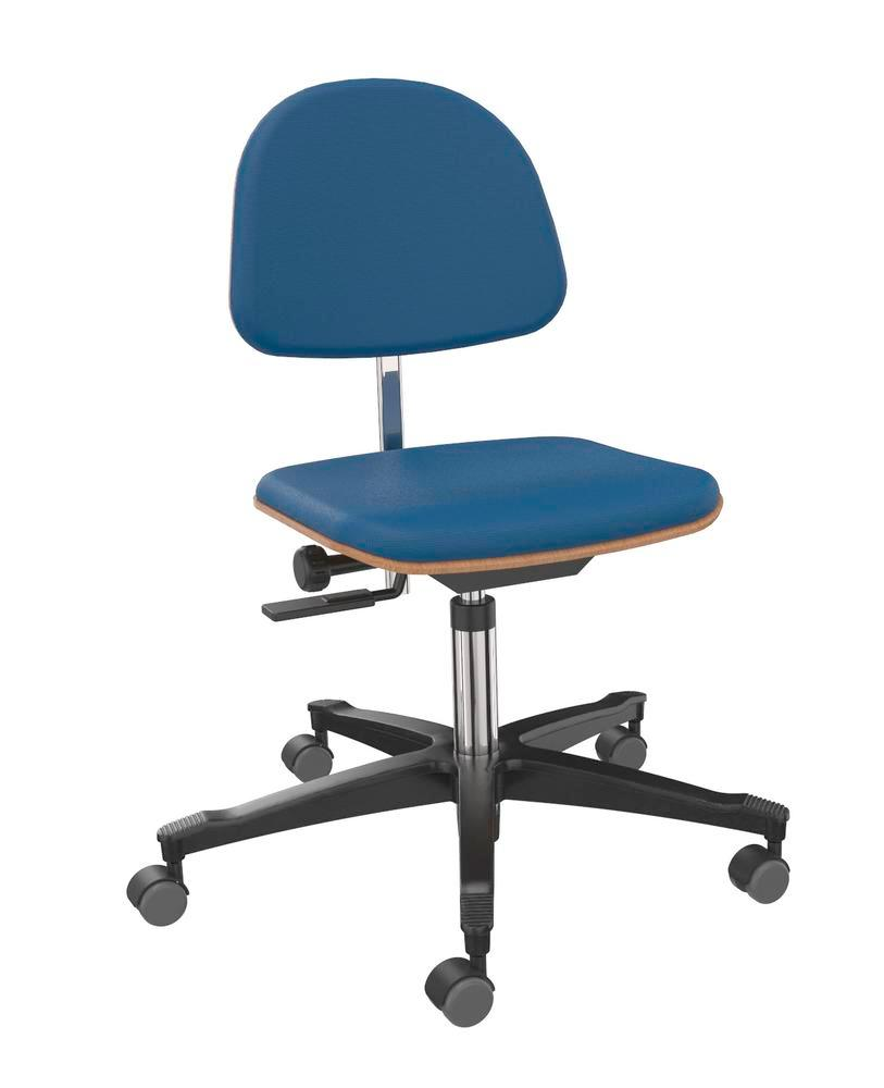 Work chair cover fabric blue - 1