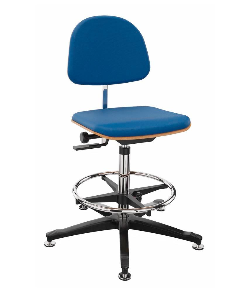 Work chair cover fabric blue,floor glide, foot ring