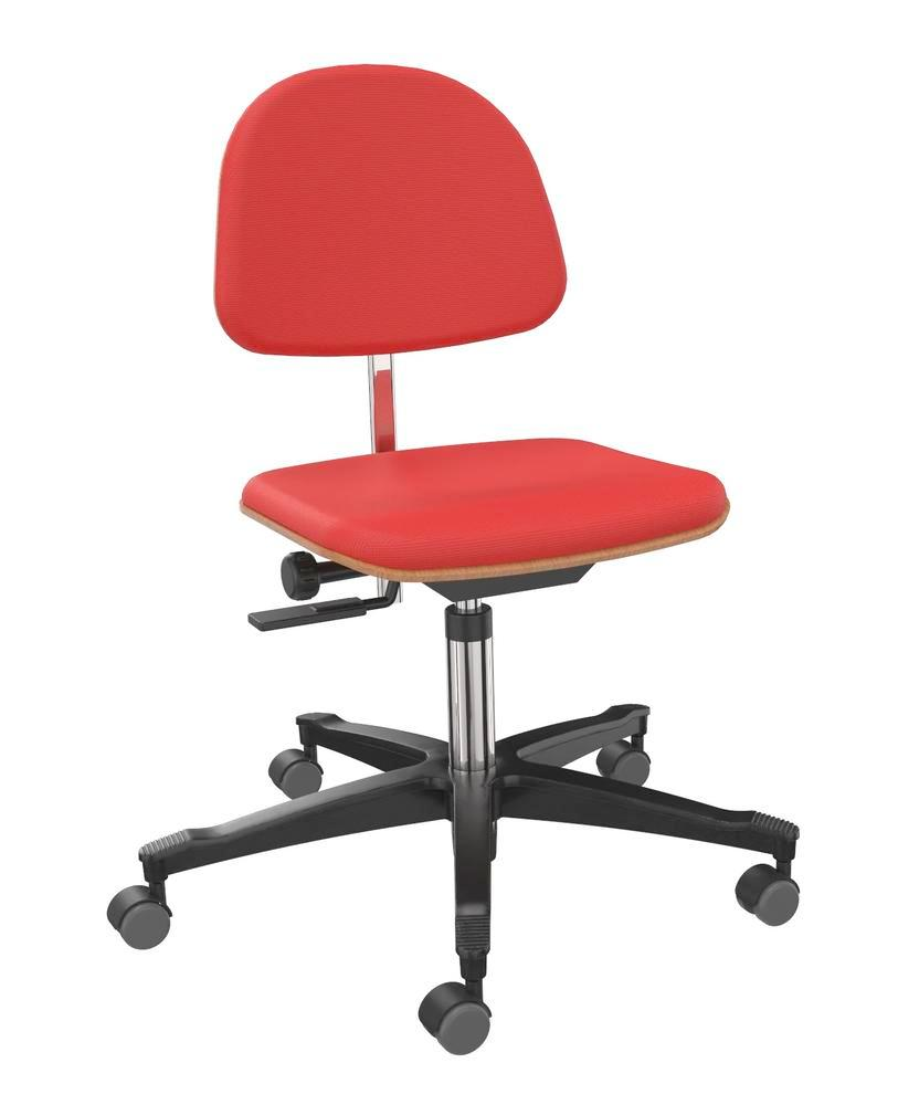 Work chair cover fabric red