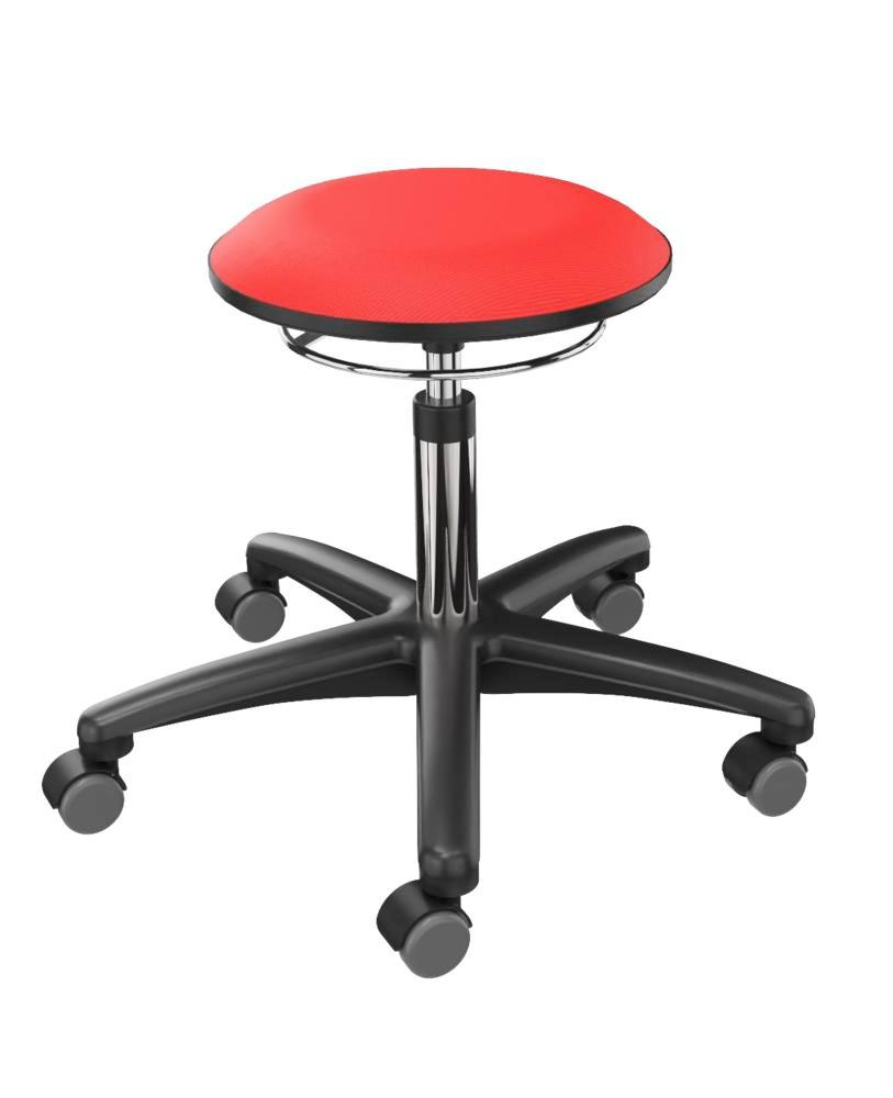 Work stool cover fabric red