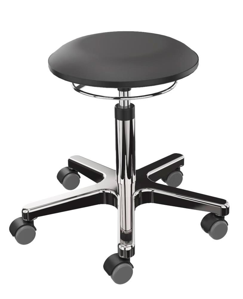 Work stool imitation leather, aluminium base