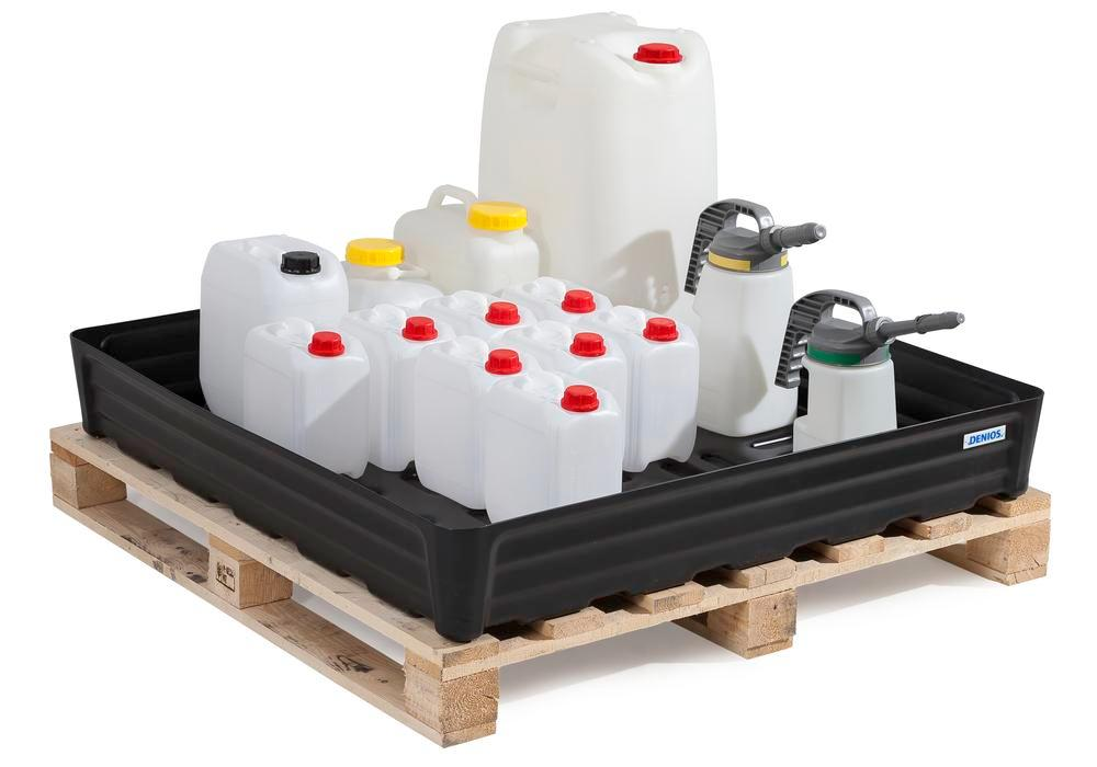 Spill tray for small containers pro-line in polyethylene (PE) without grid, 180 litre, 1170x1170x180 - 8