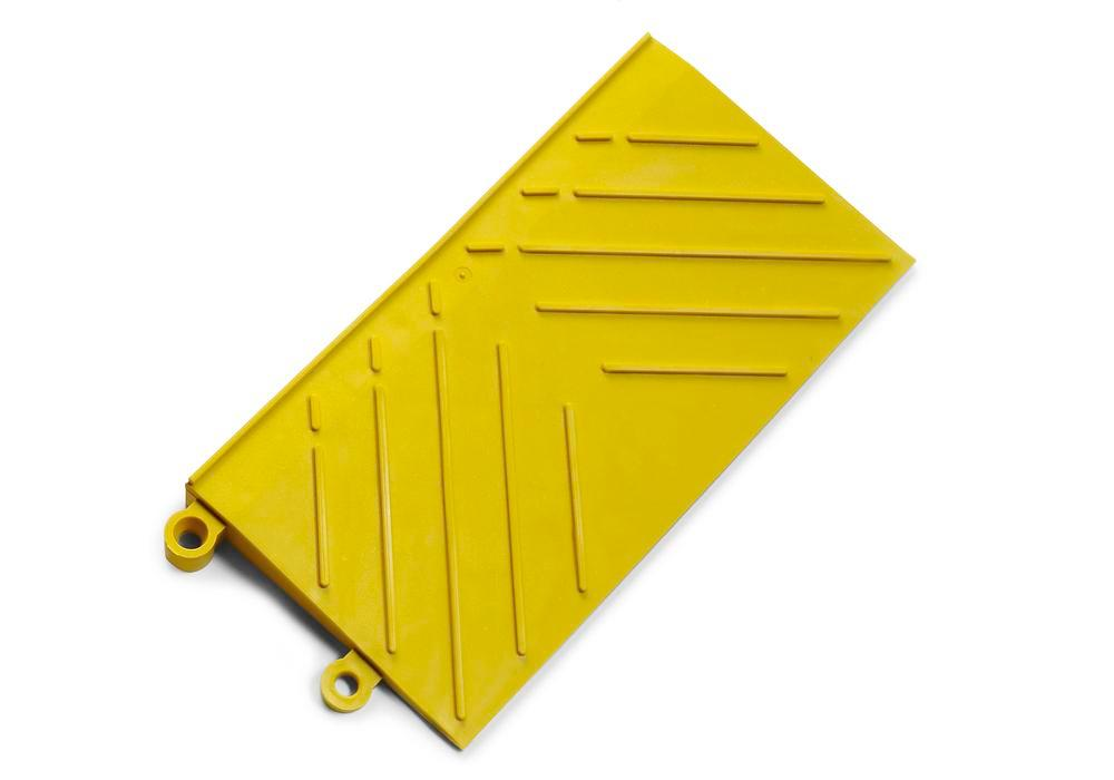 Anti-fatigue safety edge DF, PVC, female connection, yellow, 15.2 x 30.5 cm
