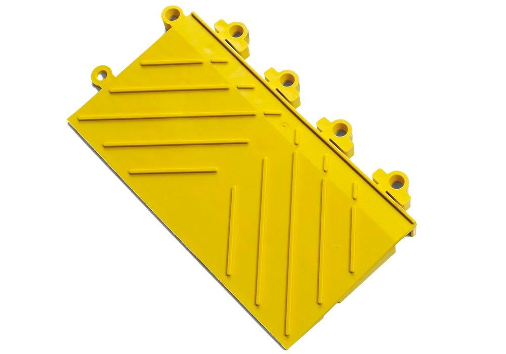 Anti-fatigue safety edge DF, PVC, male connection, yellow, 15.2 x 30.5 cm